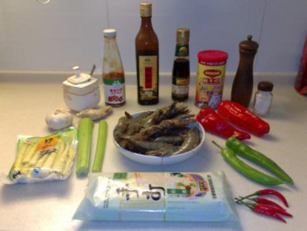 Sichuan Shrimps an Bambussprossen - Rezept - Bild Nr. 2