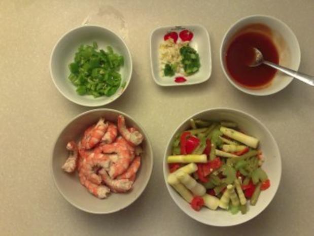 Sichuan Shrimps an Bambussprossen - Rezept - Bild Nr. 3