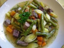 Gemüsesuppe mit Rindfleisch ... - Rezept
