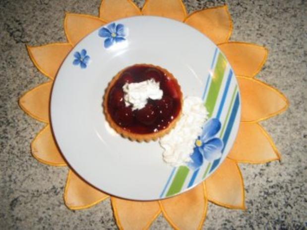 Kirsch-Amaretto-Törtchen - Rezept