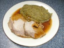 Hausmannskost: Schweinebraten mit Wirsing..zuerst zeige ich euch, wie ich mein Fleisch mache.... - Rezept