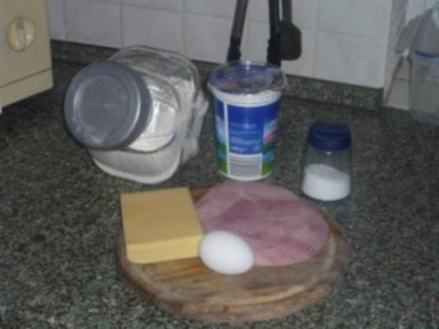 Fladenbrot mit Schinken-Käse-Füllung - Rezept