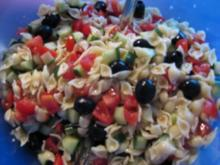 Nudelsalat mediteran - Rezept