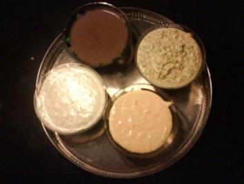 Sylvestermenue Gang 3: Kräuter-Frischkäse-Creme - Dip zu Eingelegtes Fleischfondue - Rezept
