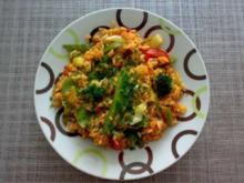 Bunter Gemüse-Tomaten-Reis - Rezept