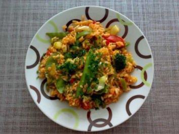 Rezept: Bunter Gemüse-Tomaten-Reis