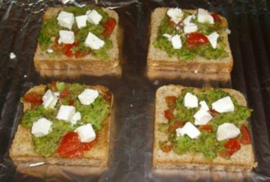 überbackener Gemüsetoast - Rezept
