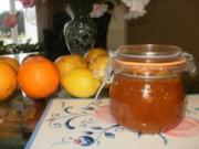 Marmalade- 3 Fruechte Marmalade von Zitrus - Ich habe immer zuviele Orangen, Zitronen und Grapefruit - Rezept