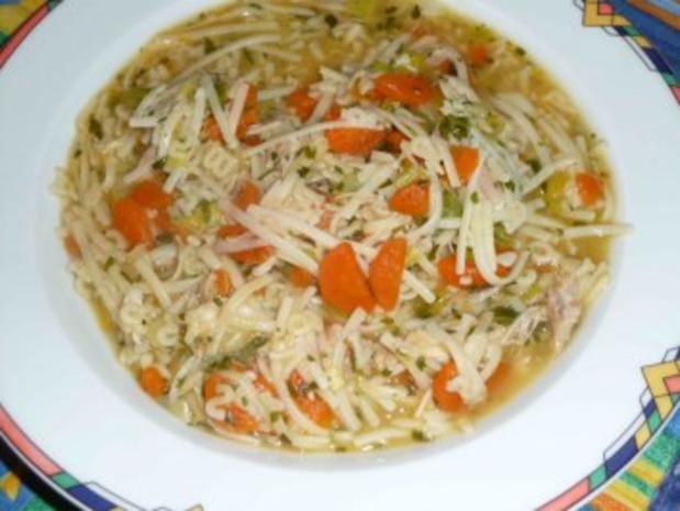 Buchstaben-Faden-Suppe - Rezept