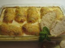 Hähnchenfilet mit Provolone-piccante Käsehaube - Rezept