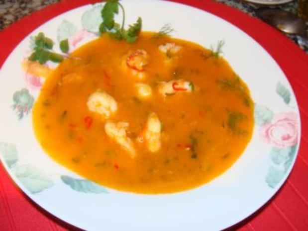 Suppe : - Schnelle feine Garnelensuppe - - Rezept