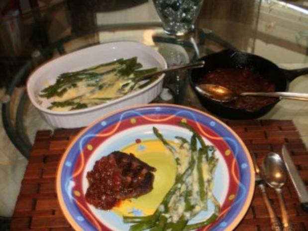 Steak mit Warm Tomaten Salsa  - einfach fettarm und gesund - Rezept - Bild Nr. 3