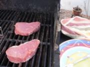 Steak mit Warm Tomaten Salsa  - einfach fettarm und gesund - Rezept