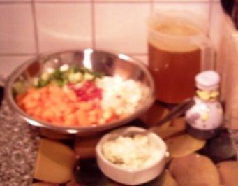 Rezept: scharfe Karottensuppe
