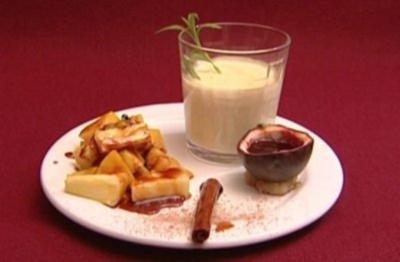 Panna Lova mit beschwipsten, karamellisierten Früchten (Alexandra Polzin) - Rezept