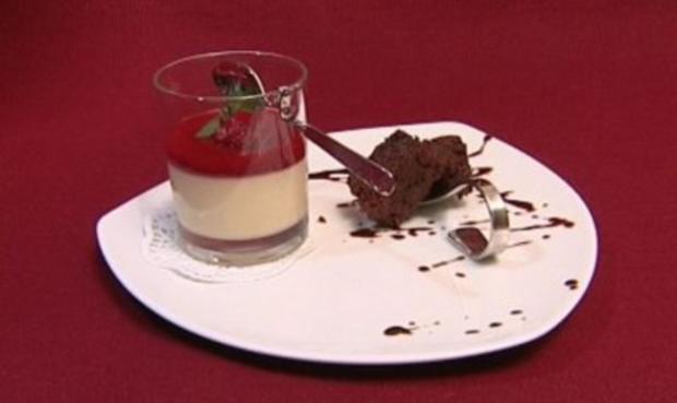 Bayerische Crème mit Himbeermark (Horst Janson) - Rezept