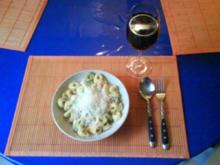 Nudeln: Tortellini Tricolore mit Carbonara - Rezept