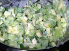 Gurken-Apfel-Salat mit Ingwer und Minze - Rezept