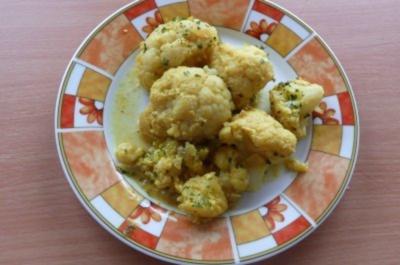 Gemüse: Curry-Blumenkohl - Rezept