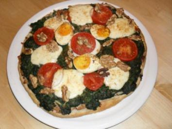 Pizza auf Fladenbrot - Rezept