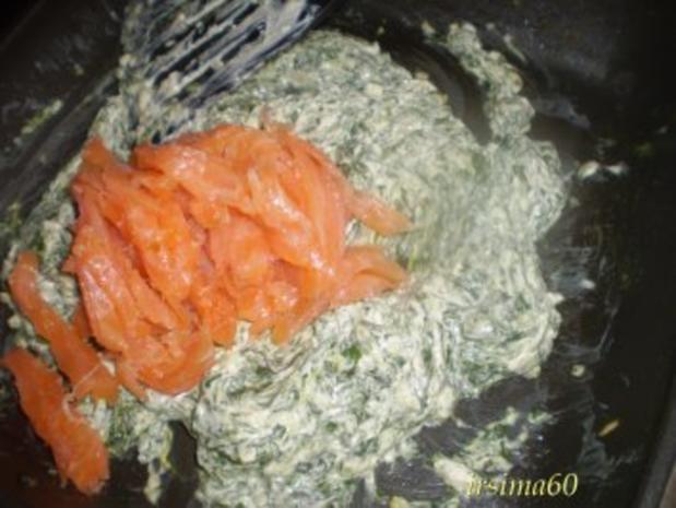 Blätterteigpastete mit Räucherlachs und Spinat - Rezept - Bild Nr. 7
