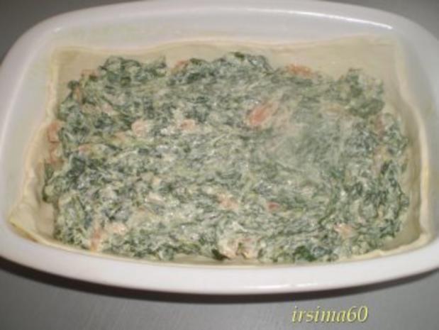 Blätterteigpastete mit Räucherlachs und Spinat - Rezept - Bild Nr. 8