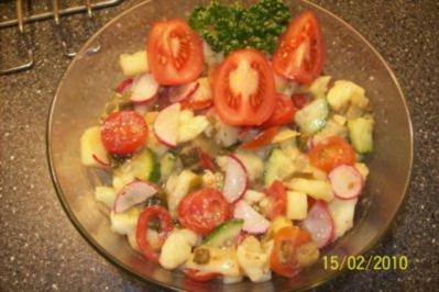 Salat - Knackiger Kartoffelsalat - Rezept