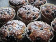 Blaubeer-Marzipan Muffins - Rezept