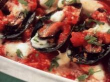antipasti miesmuscheln mit mozzarella - Rezept