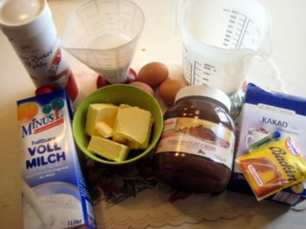 gefüllter Schokoladenkuchen für 20er Springform - Rezept - Bild Nr. 2