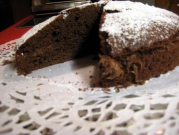gefüllter Schokoladenkuchen für 20er Springform - Rezept - Bild Nr. 9
