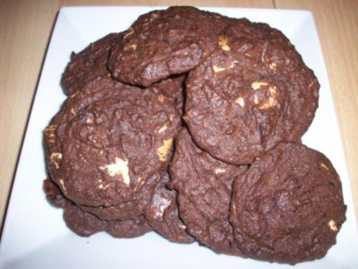 double chocolate chip cookies rezept mit bild. Black Bedroom Furniture Sets. Home Design Ideas