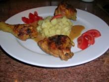 Maispoularde in Thymian-Wermutsauce an Kartoffelrisotto - Rezept