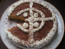 Tiramisu-torte mit Sahnecreme. - Rezept