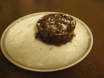 Schokoladen - soufflee.( leicht gemacht ) . - Rezept