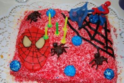 Rezept: spidermann torte