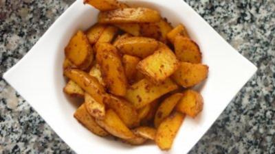 Tandoori-Sesamöl-Kartoffeln vom Blech - Rezept