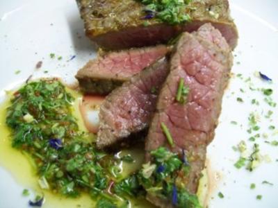 Steaks aus der Unterschale mit Chimichurri - Rezept