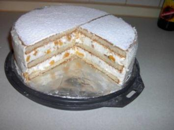Pfirsich - Käse - Torte - Rezept