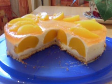 Pfirsich-Creme-Torte - Rezept