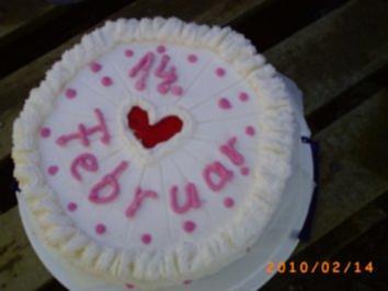 Torten Meine Torte Zum Valentinstag Cappuccino Eierlikorcreme