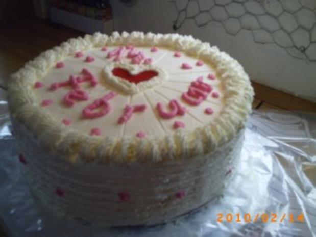 Torten Meine Torte Zum Valentinstag Cappuccino Eierlikörcreme