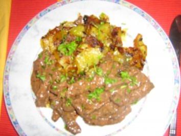 Röschele mit Bratkartoffeln ( Brägele) - Rezept