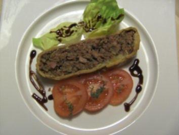 Pikantes Backen: Hackfleisch-Pastete - Rezept