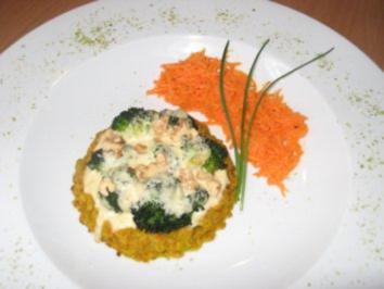 Broccoli-Tortelette ....mit Gemüseboden - Rezept