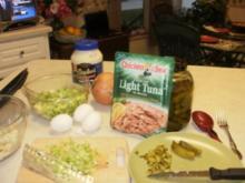 Fisch- Thunfisch Salat -  fettarm, einfach und schnell - Amerikanisches Grundgesetz - Rezept
