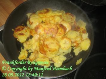 Kartoffeln – roh greeste nach Frankforder Art - Rezept