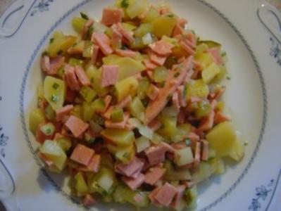 Kartoffel-Wurst-Salat ohne Mayonnaise - Rezept