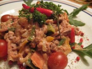 Pikanter Rindfleischsalat - Rezept