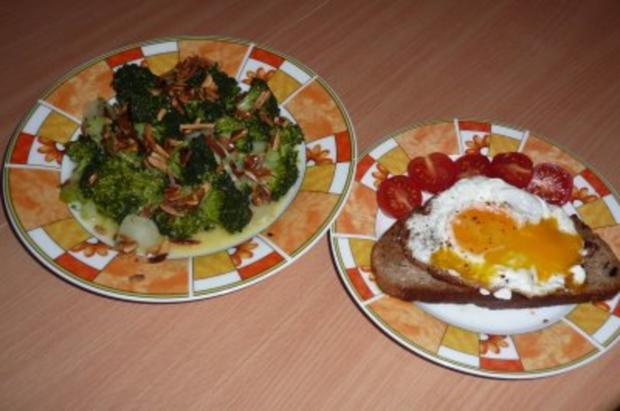 Salate:  Lauwarmer Broccolisalat mit gerösteten Mandeln - Rezept - Bild Nr. 2